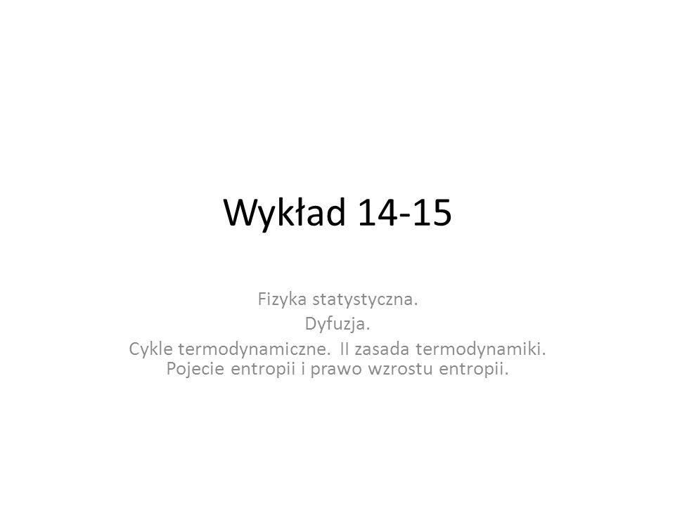 Wykład 14-15 Fizyka statystyczna. Dyfuzja.