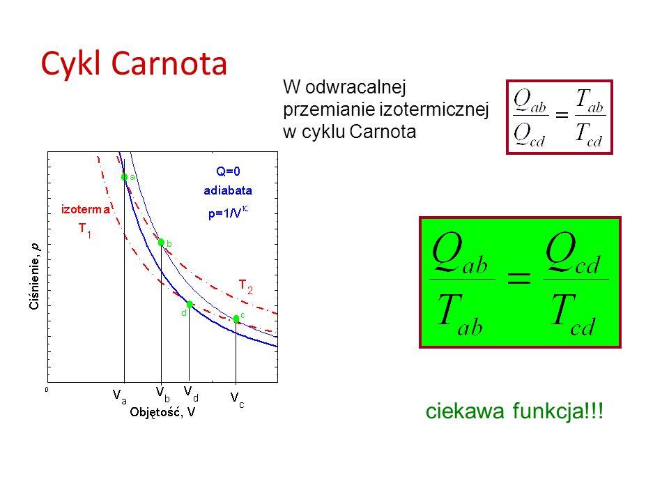 Cykl Carnota ciekawa funkcja!!! W odwracalnej przemianie izotermicznej