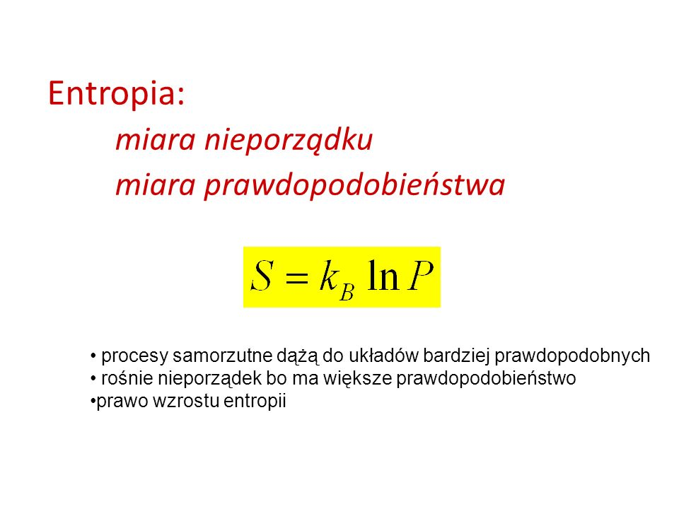 Entropia: miara nieporządku miara prawdopodobieństwa