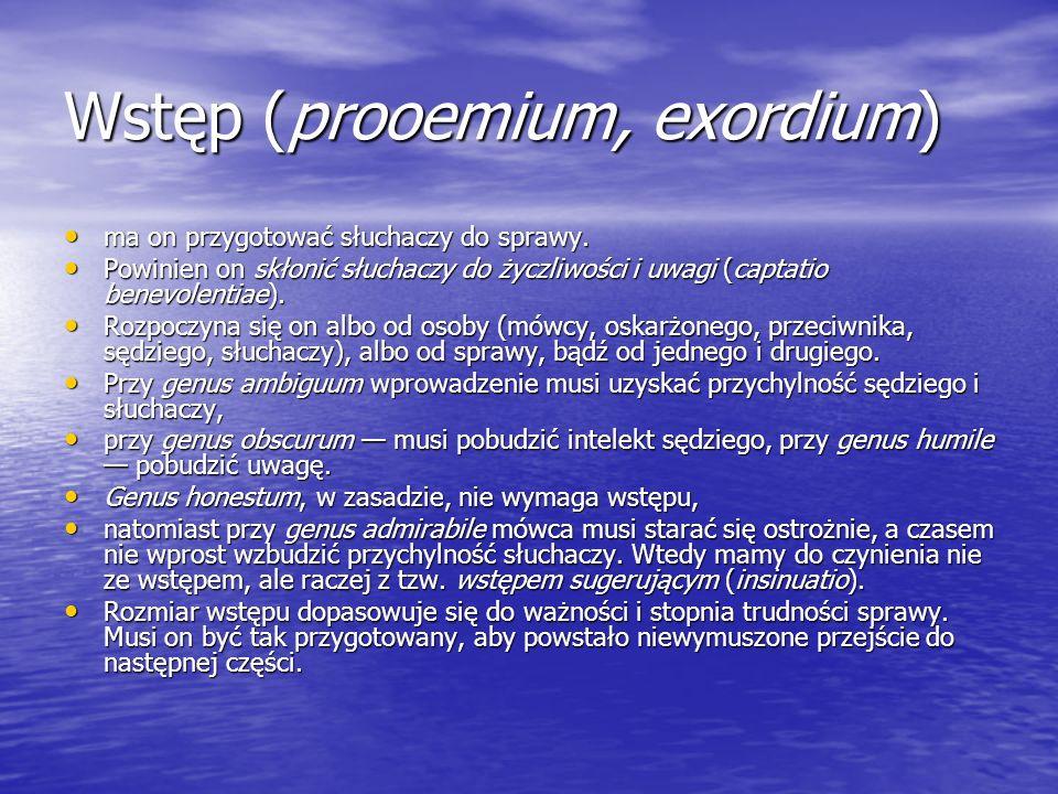 Wstęp (prooemium, exordium)