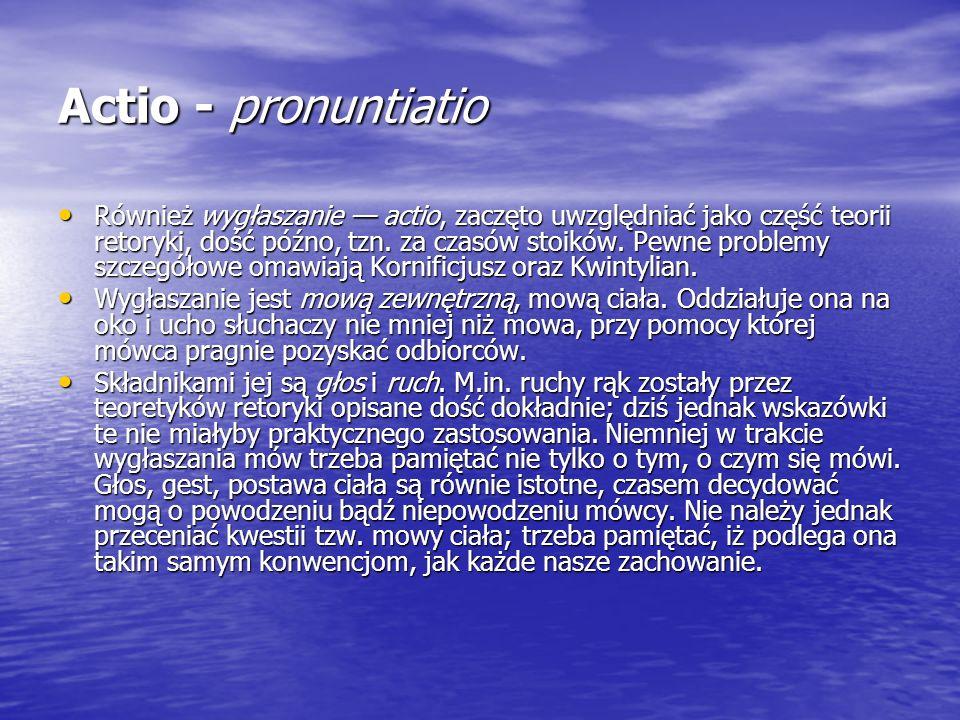 Actio - pronuntiatio