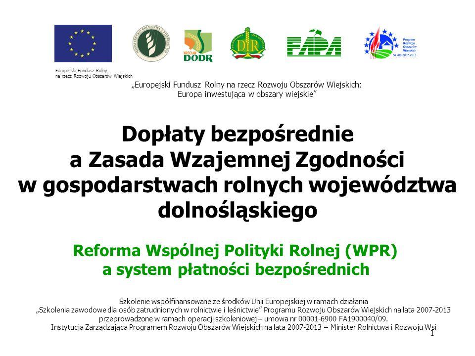 Reforma Wspólnej Polityki Rolnej (WPR)