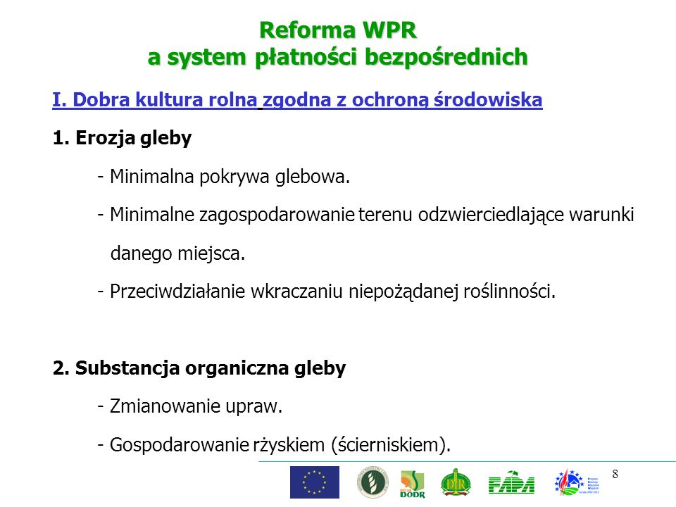 Reforma WPR a system płatności bezpośrednich