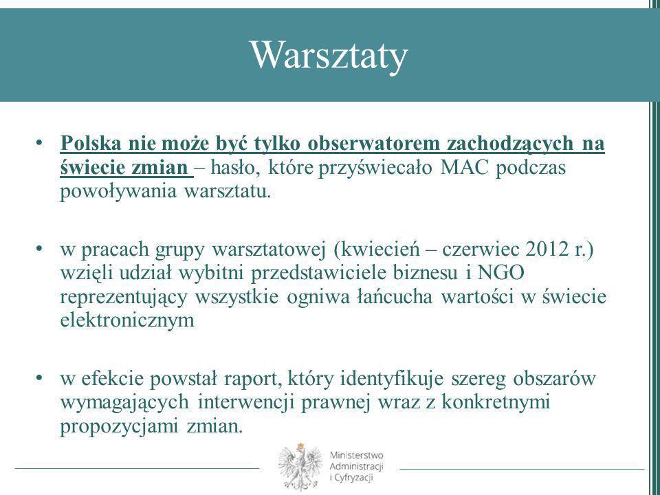 Warsztaty Polska nie może być tylko obserwatorem zachodzących na świecie zmian – hasło, które przyświecało MAC podczas powoływania warsztatu.