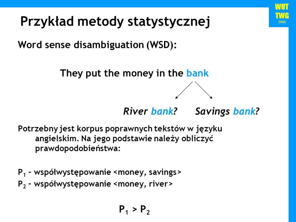 Przykład metody statystycznej