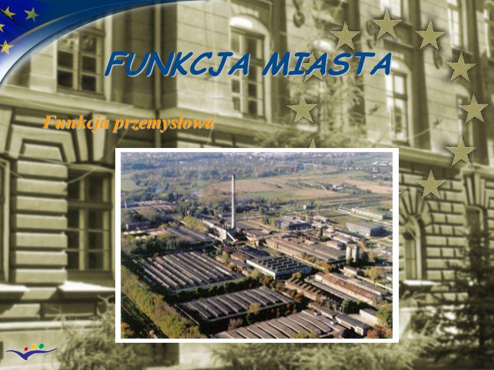FUNKCJA MIASTA Funkcja przemysłowa