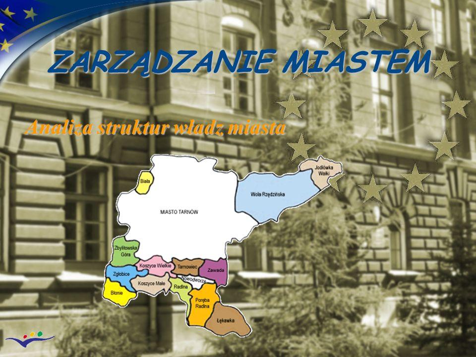 ZARZĄDZANIE MIASTEM Analiza struktur władz miasta
