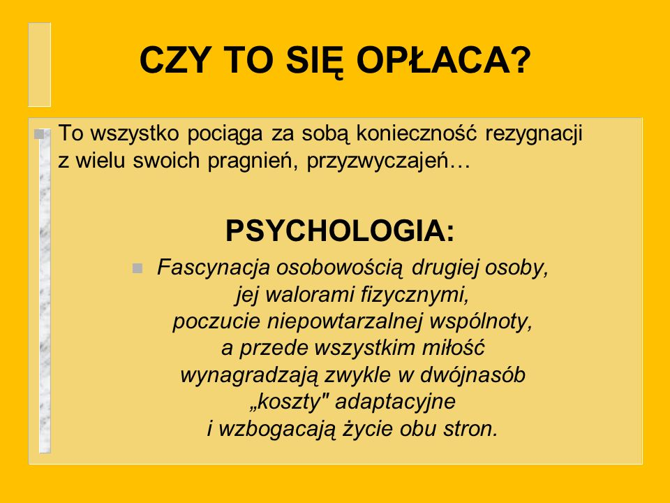 CZY TO SIĘ OPŁACA PSYCHOLOGIA:
