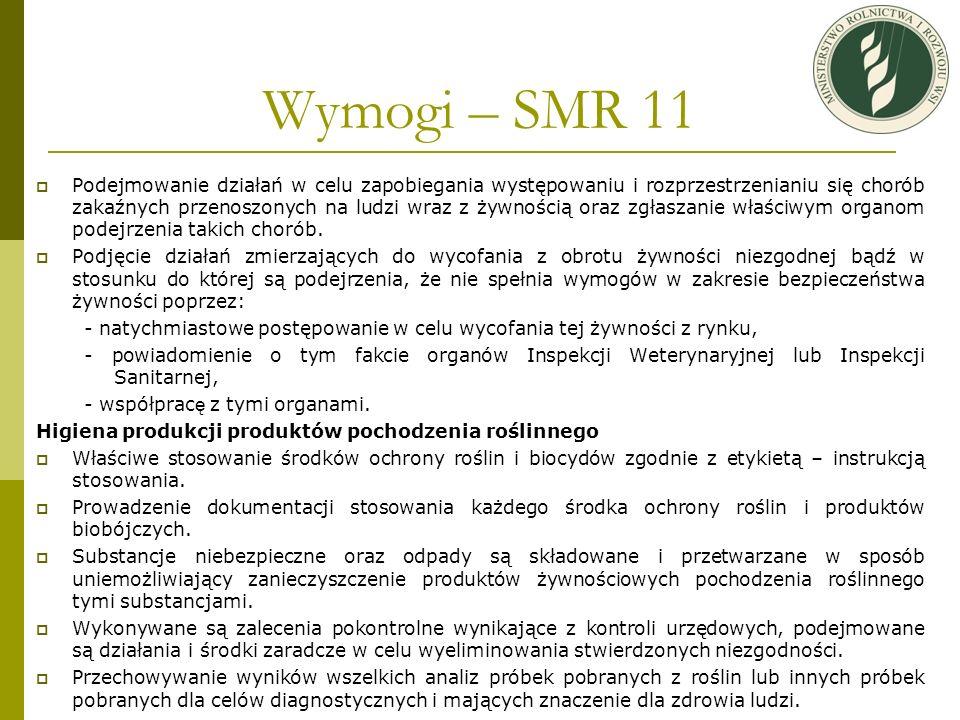 Wymogi – SMR 11