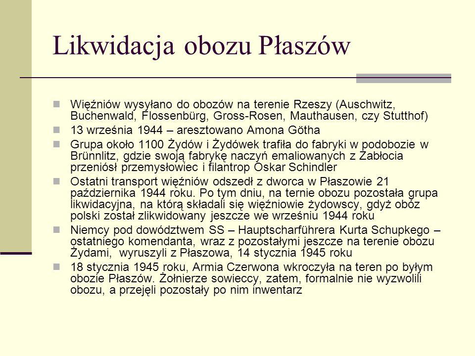 Likwidacja obozu Płaszów