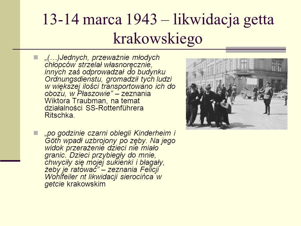 13-14 marca 1943 – likwidacja getta krakowskiego