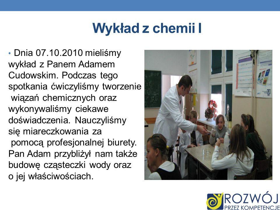 Wykład z chemii I