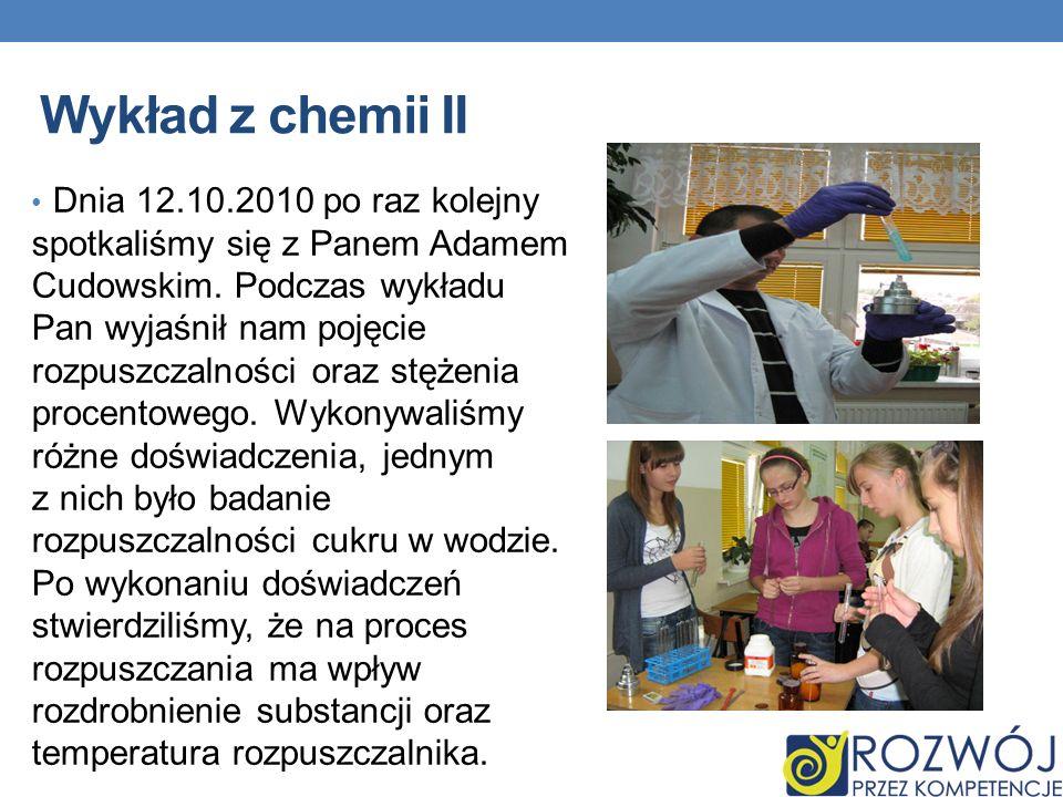 Wykład z chemii II