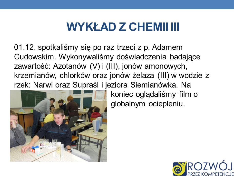 Wykład z chemii III