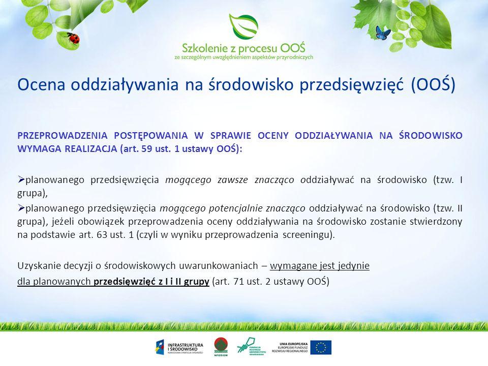 Ocena oddziaływania na środowisko przedsięwzięć (OOŚ)