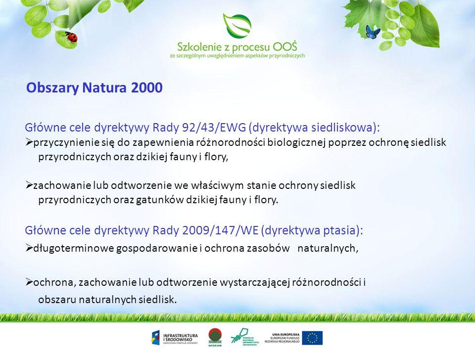 Obszary Natura 2000 Główne cele dyrektywy Rady 92/43/EWG (dyrektywa siedliskowa):