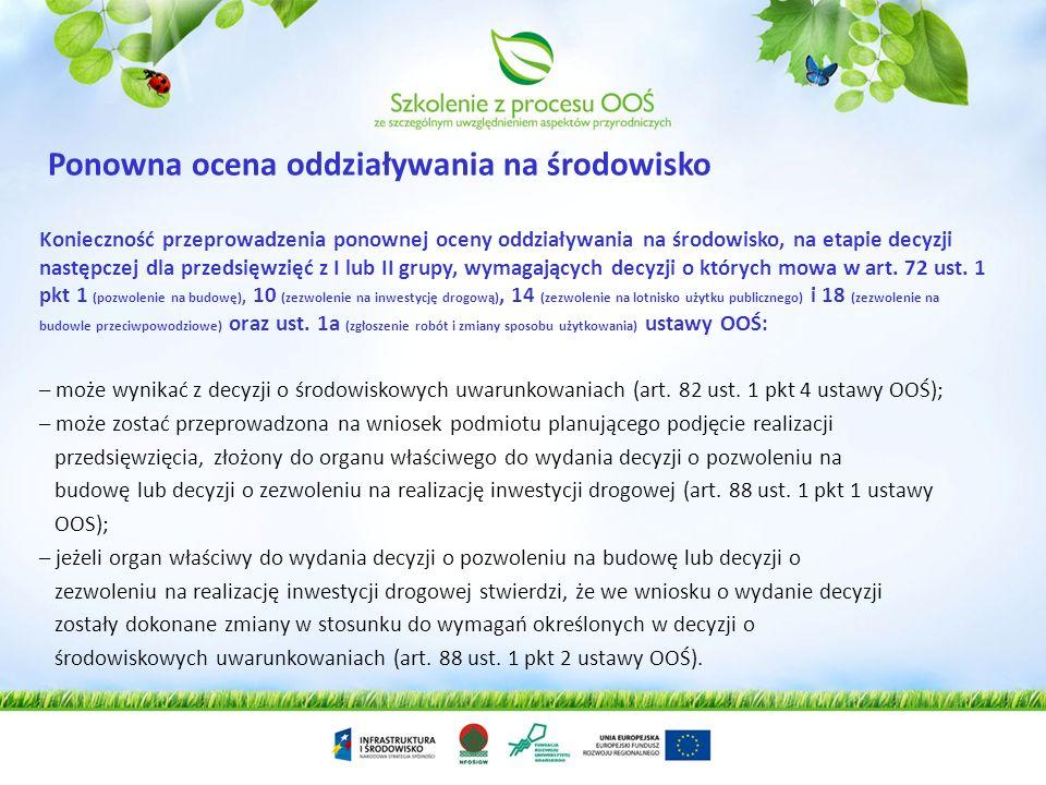 Ponowna ocena oddziaływania na środowisko
