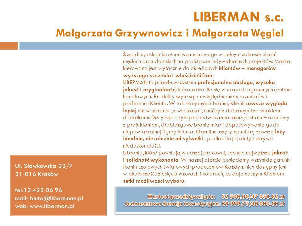LIBERMAN s.c. Małgorzata Grzywnowicz i Małgorzata Węgiel