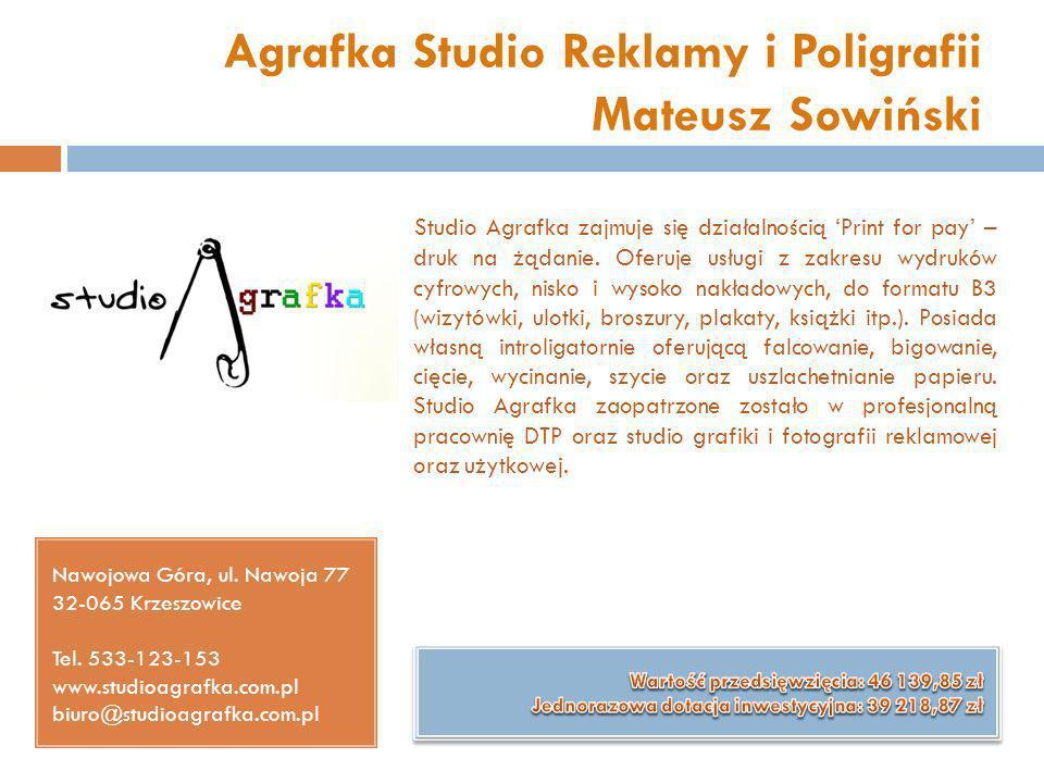 Agrafka Studio Reklamy i Poligrafii Mateusz Sowiński