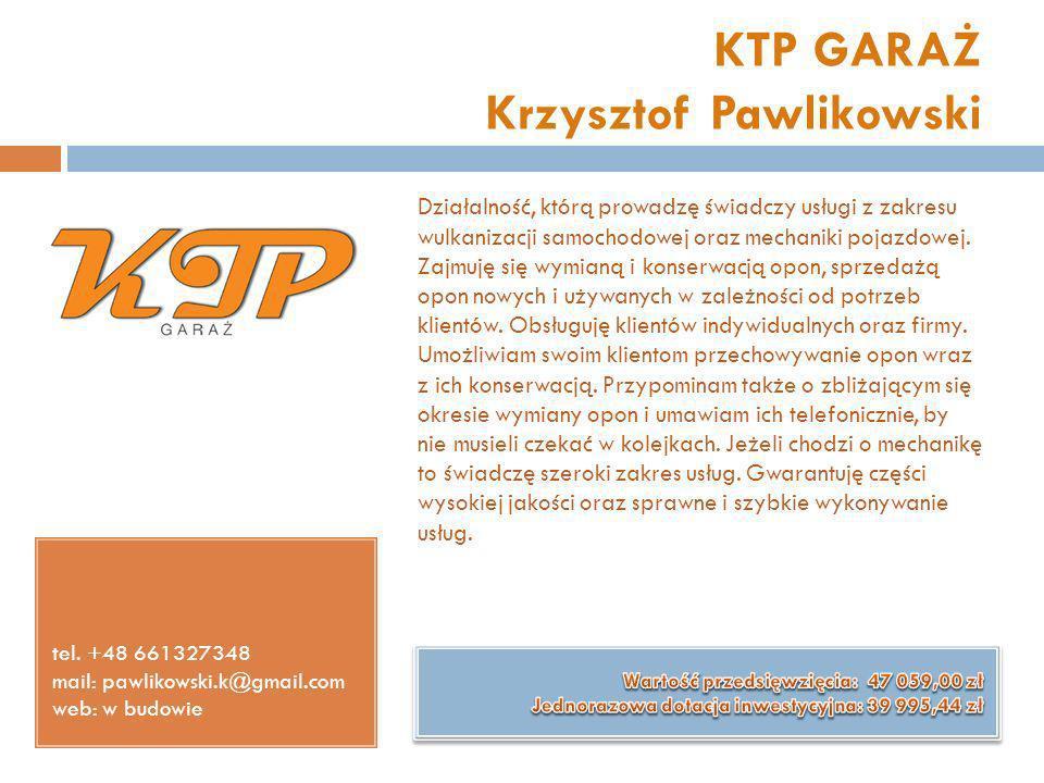 KTP GARAŻ Krzysztof Pawlikowski