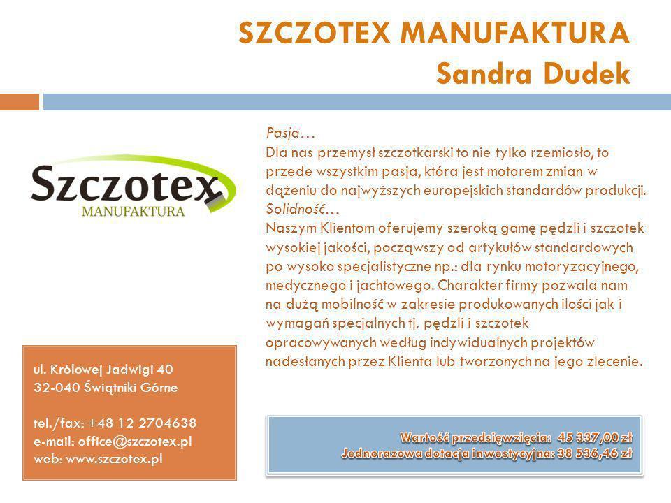SZCZOTEX MANUFAKTURA Sandra Dudek