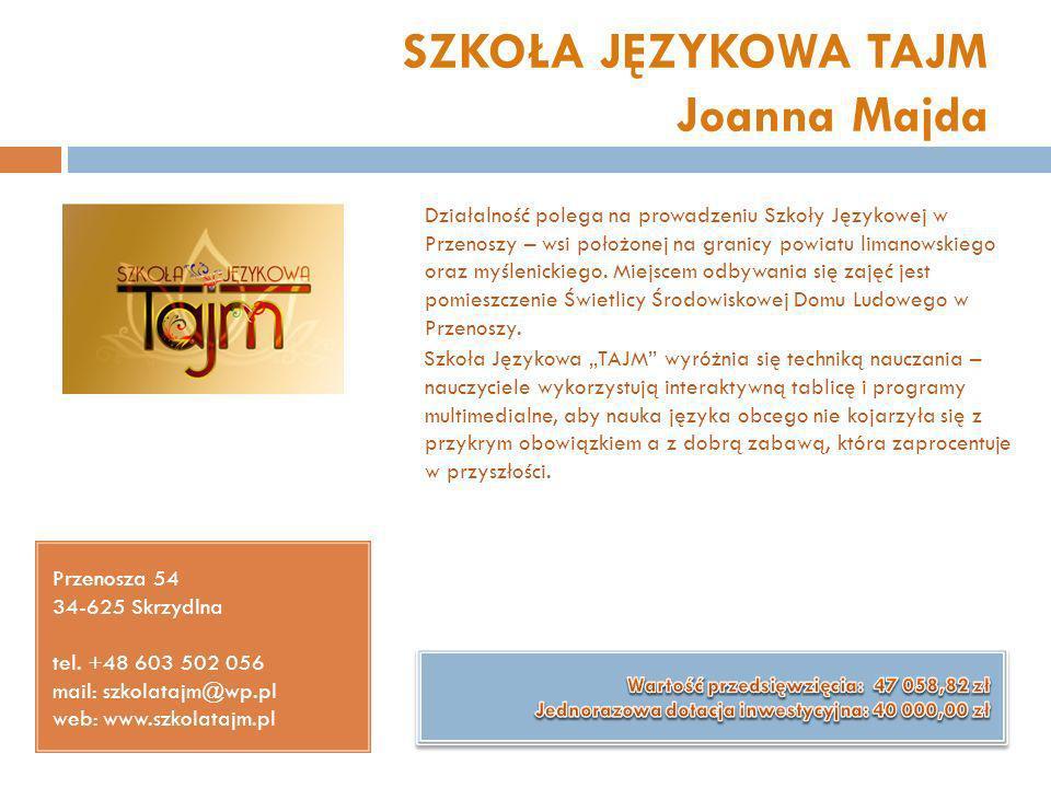 SZKOŁA JĘZYKOWA TAJM Joanna Majda