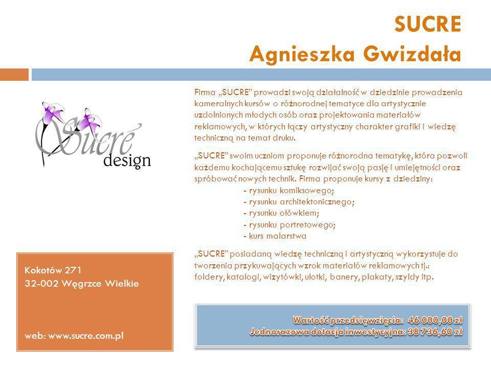 SUCRE Agnieszka Gwizdała