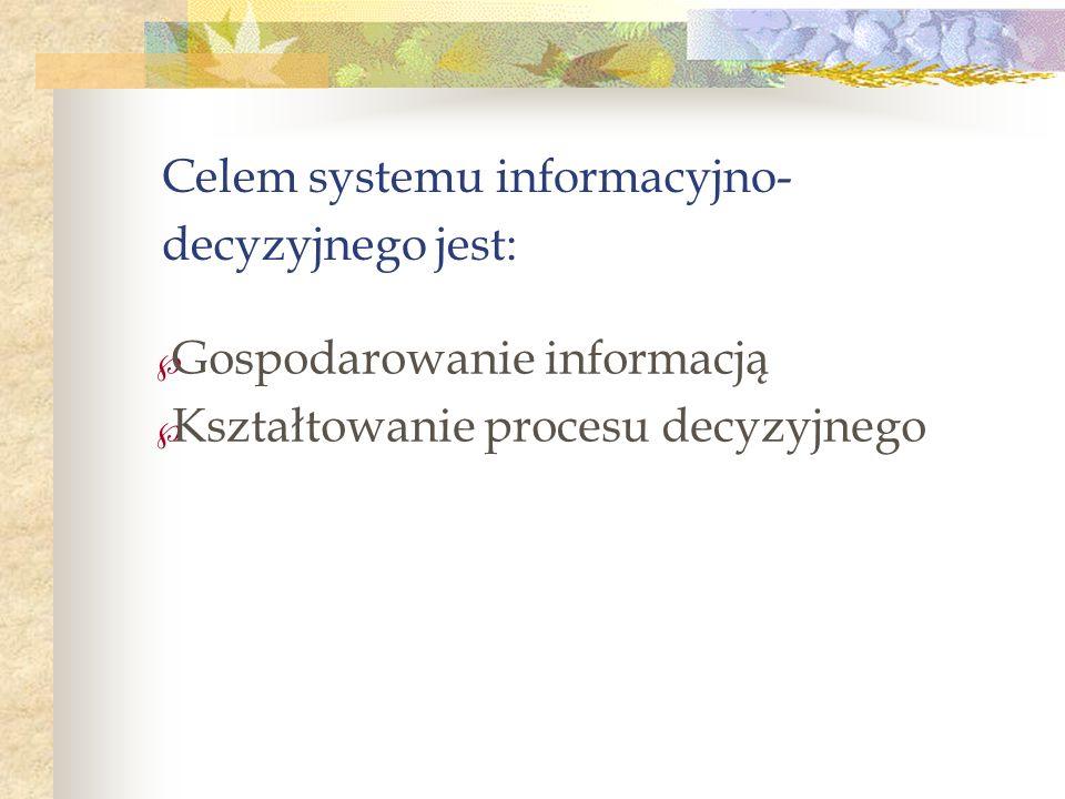 Celem systemu informacyjno-