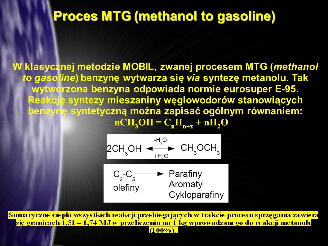 Proces MTG (methanol to gasoline)