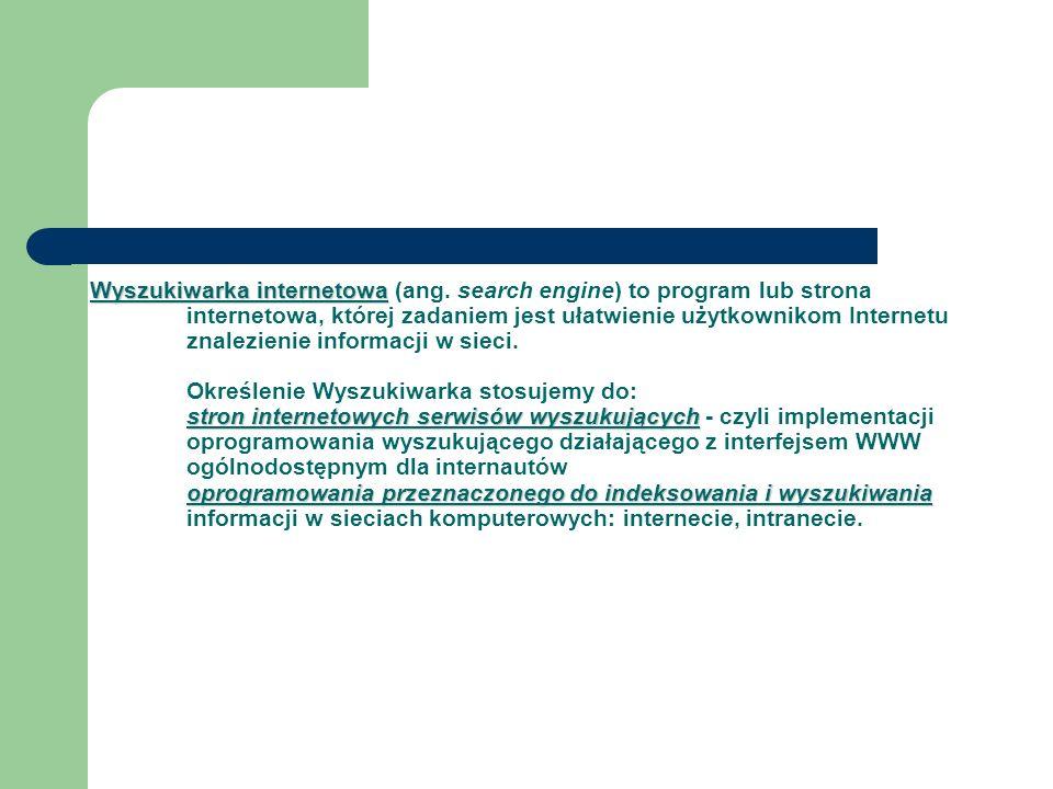 Wyszukiwarka internetowa (ang
