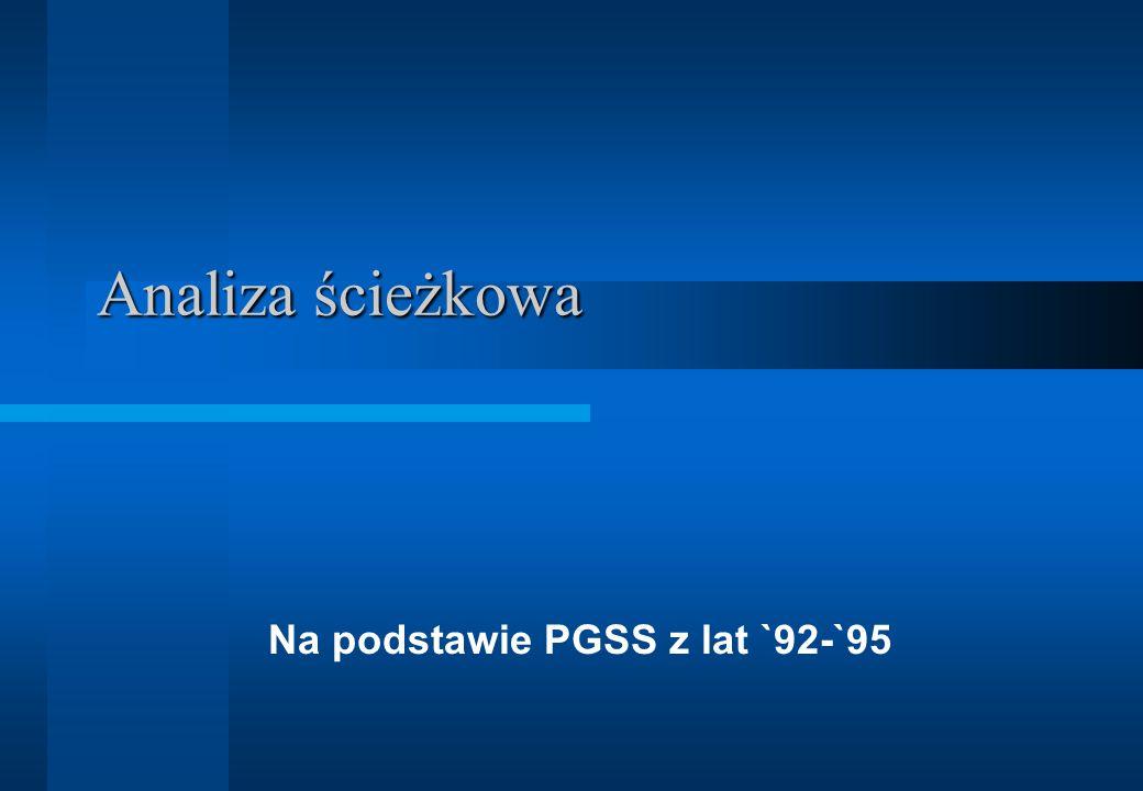 Na podstawie PGSS z lat `92-`95