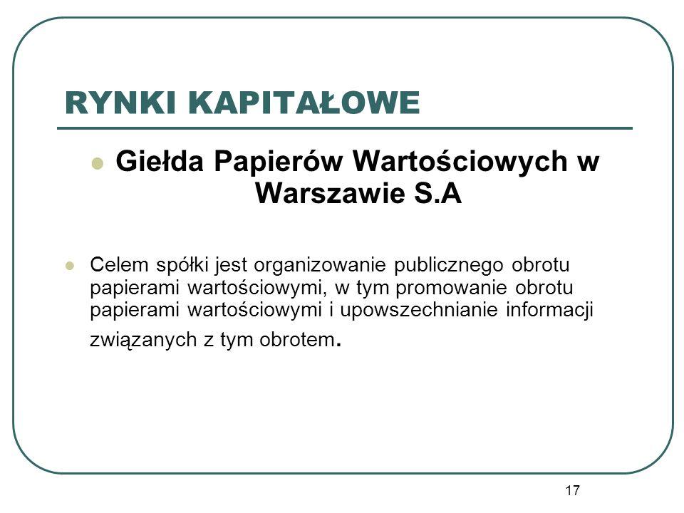 Giełda Papierów Wartościowych w Warszawie S.A