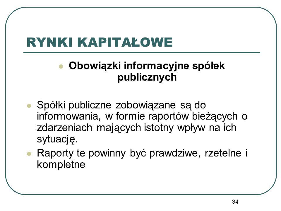 Obowiązki informacyjne spółek publicznych