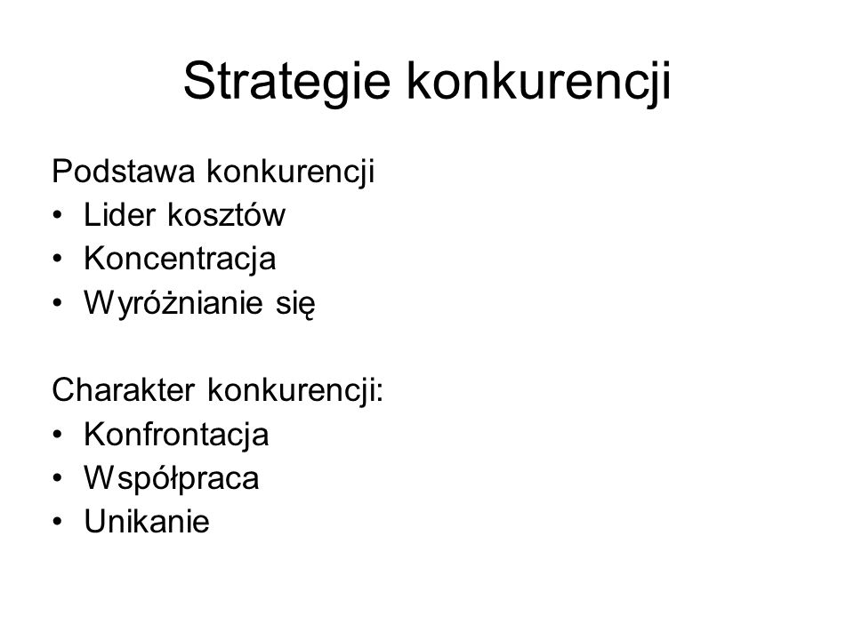 Strategie konkurencji