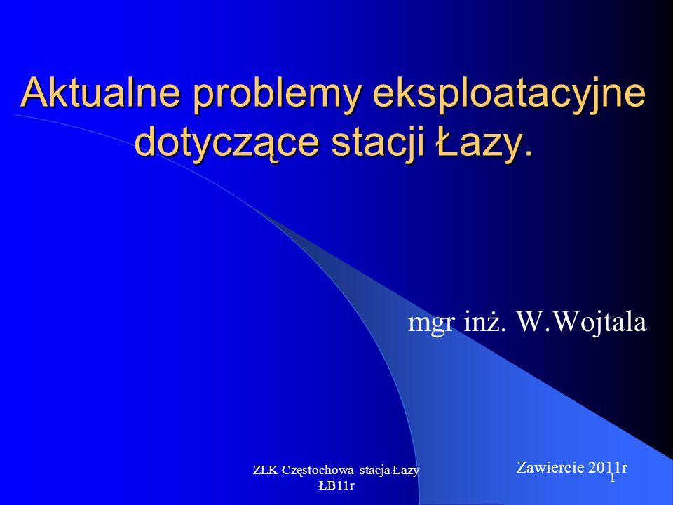 Aktualne problemy eksploatacyjne dotyczące stacji Łazy.