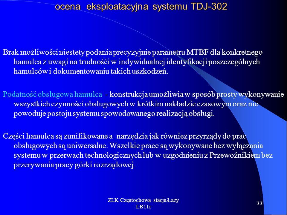ocena eksploatacyjna systemu TDJ-302
