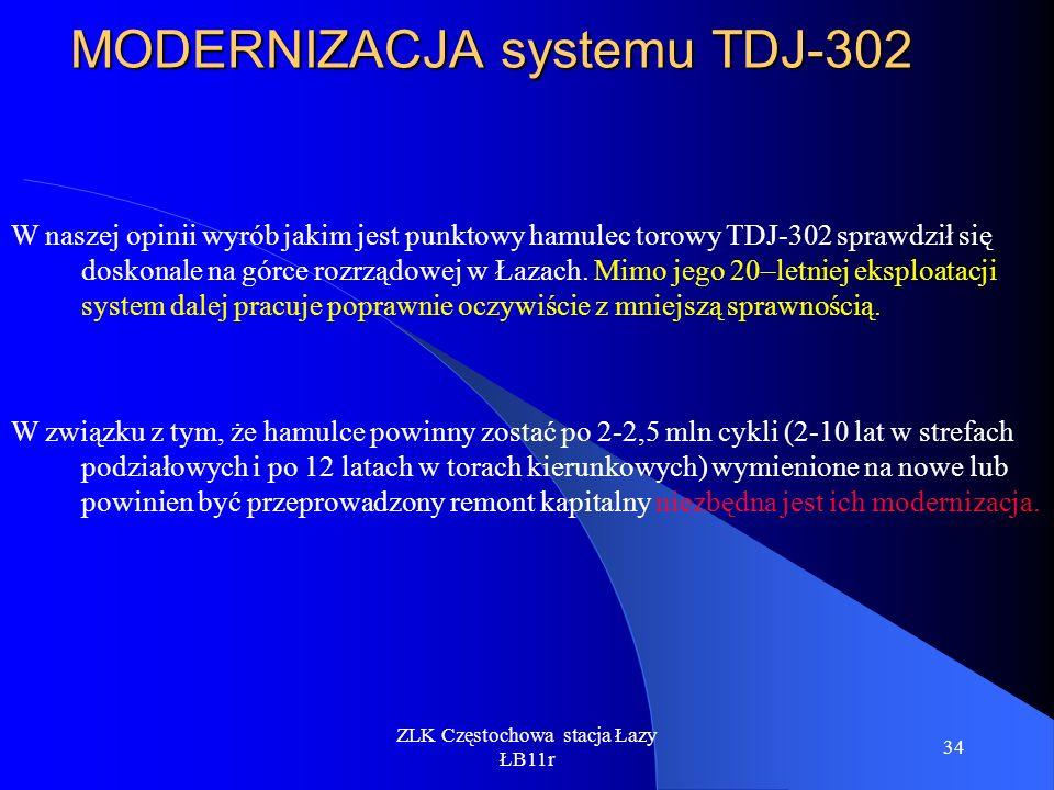 MODERNIZACJA systemu TDJ-302