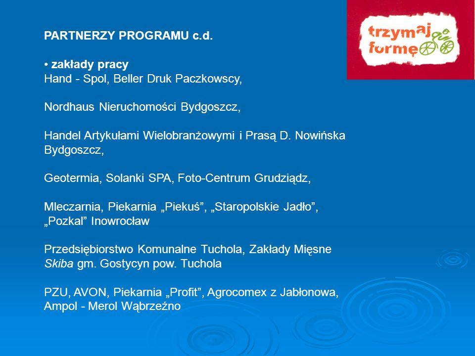 PARTNERZY PROGRAMU c.d.• zakłady pracy. Hand - Spol, Beller Druk Paczkowscy, Nordhaus Nieruchomości Bydgoszcz,