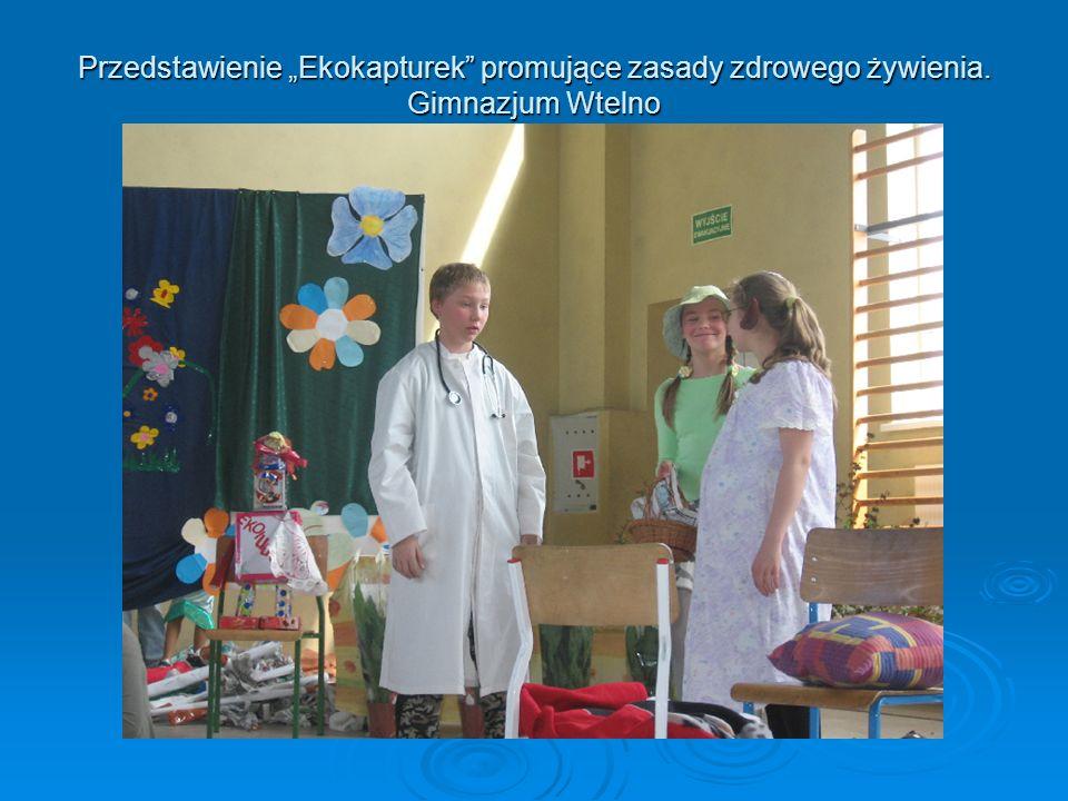 """Przedstawienie """"Ekokapturek promujące zasady zdrowego żywienia"""