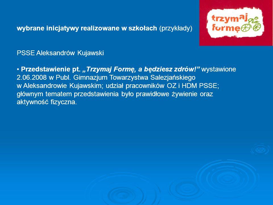 wybrane inicjatywy realizowane w szkołach (przykłady)