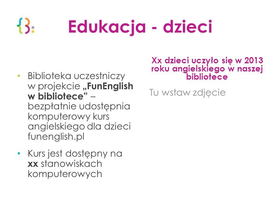 Xx dzieci uczyło się w 2013 roku angielskiego w naszej bibliotece