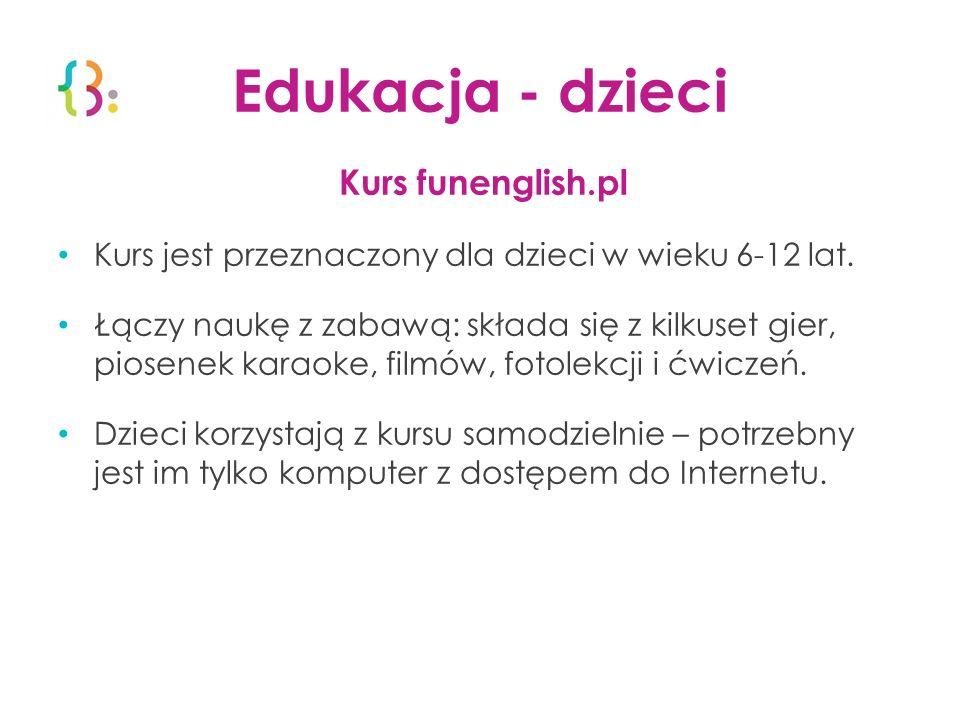 Edukacja - dzieci Kurs funenglish.pl