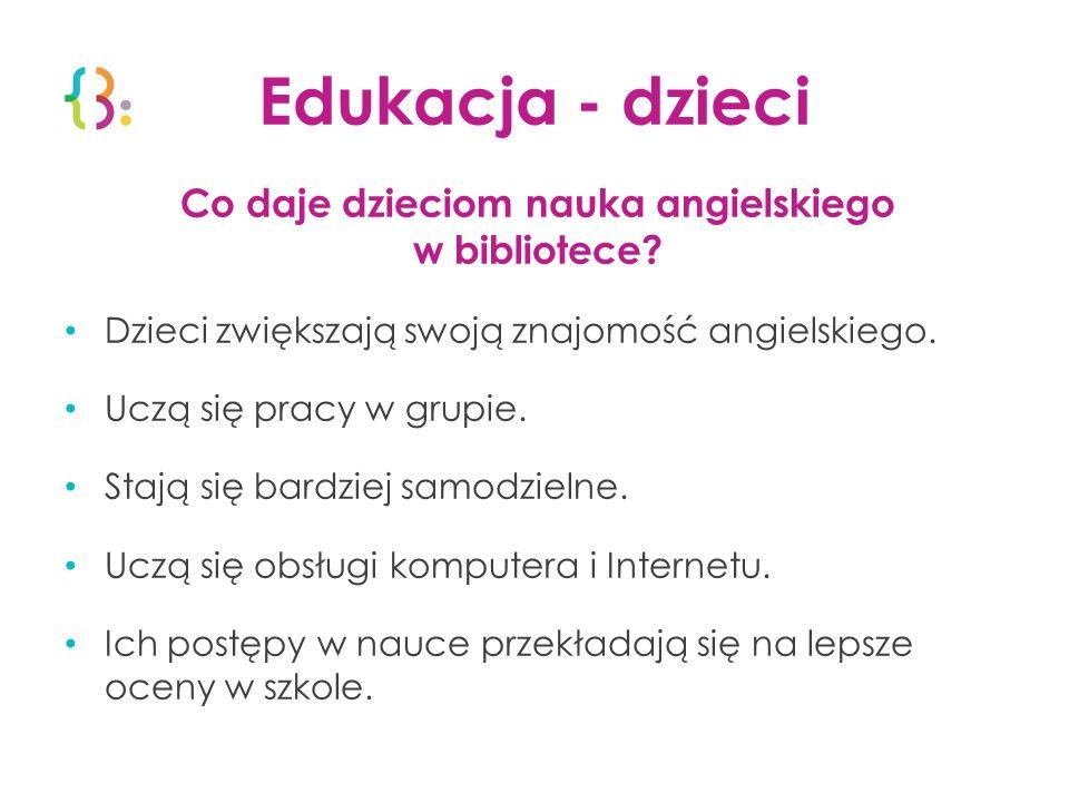 Co daje dzieciom nauka angielskiego w bibliotece