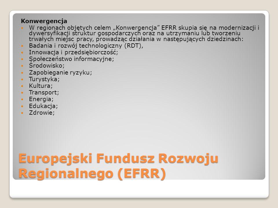Europejski Fundusz Rozwoju Regionalnego (EFRR)