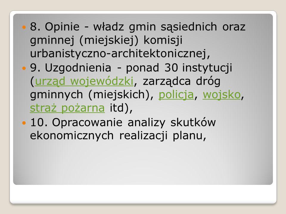 8. Opinie - władz gmin sąsiednich oraz gminnej (miejskiej) komisji urbanistyczno-architektonicznej,