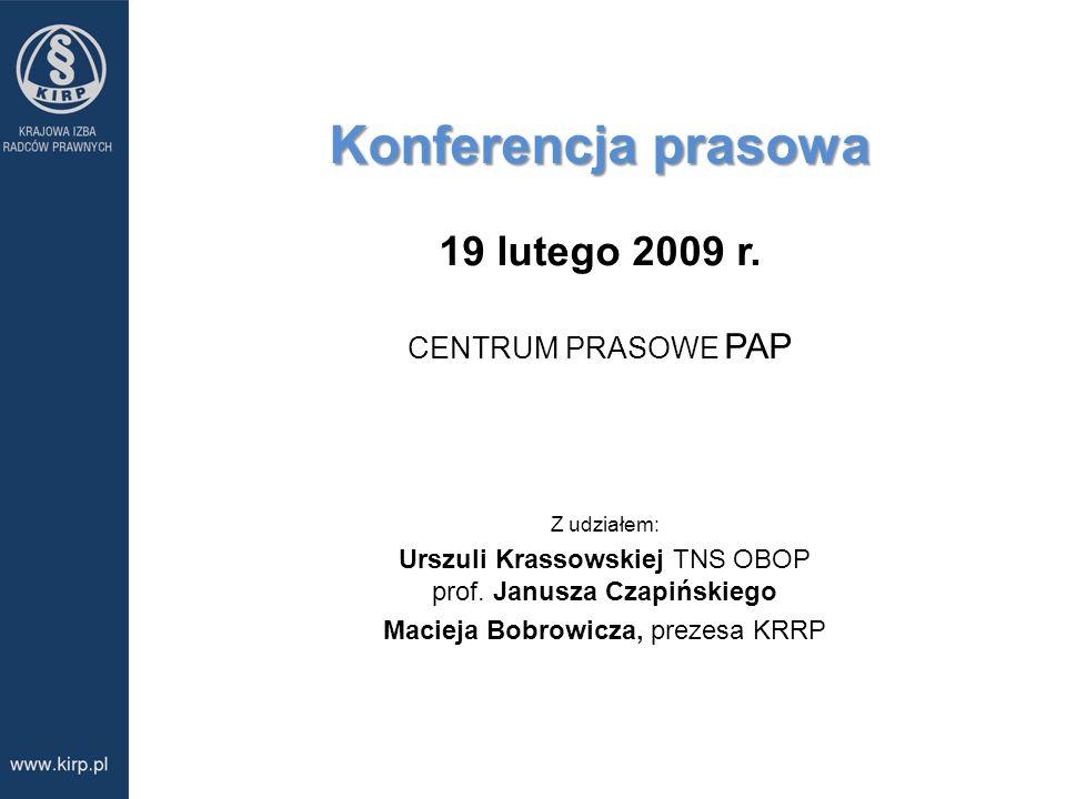 Konferencja prasowa 19 lutego 2009 r. CENTRUM PRASOWE PAP