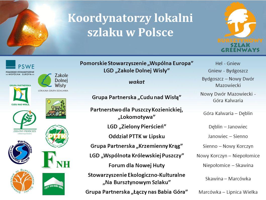 Koordynatorzy lokalni szlaku w Polsce