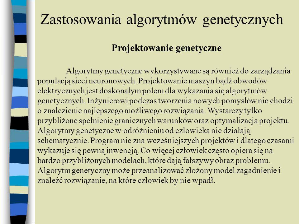 Zastosowania algorytmów genetycznych