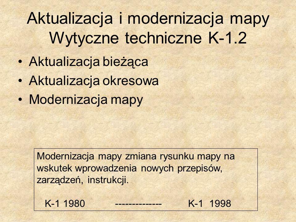 Aktualizacja i modernizacja mapy Wytyczne techniczne K-1.2