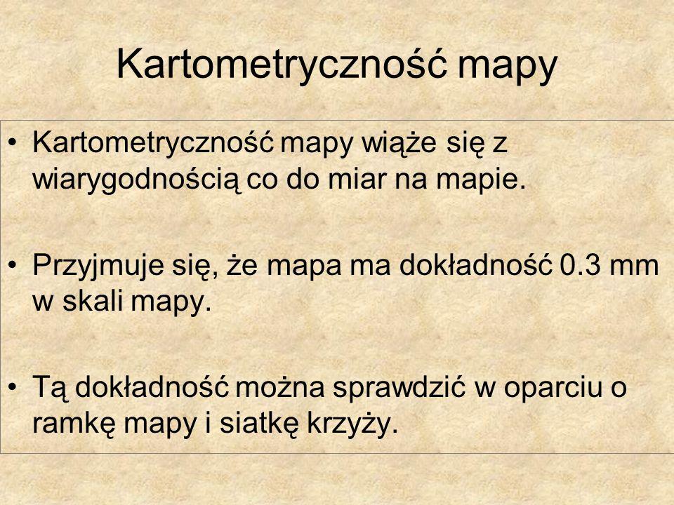 Kartometryczność mapy